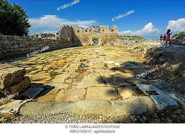 Perge Gate. Old capital of Pamphylia Secunda. Ancient Greece. Asia Minor. Turkey