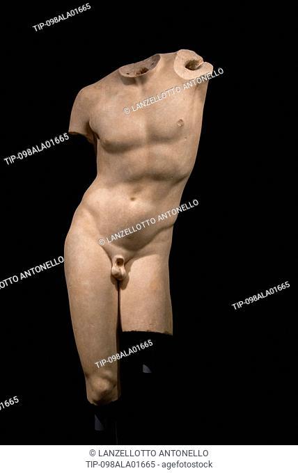 Europe, Portugal, Lisbon, Estrela, National Museum of Ancient Art, Torso, Roman sculpture