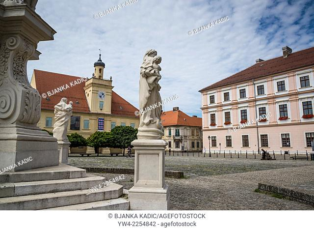 Main Square with Building of the Guard and Headquarters of Slavonia, The Fort, Osijek, Croatia