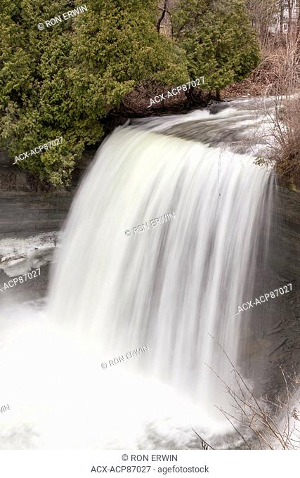 Bridal Veil Falls - a Niagara Escarpment plunge type waterfall on Manitoulin Island in Kagawong, Ontario, Canada