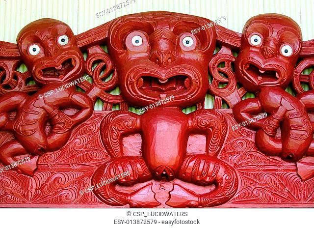 Maori wall carvings