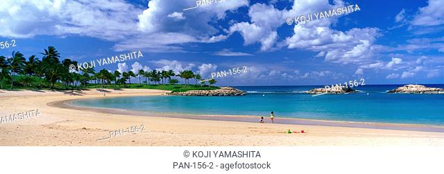 Beach at Ko Olina Resort, Oahu, Hawaii, USA, No Release