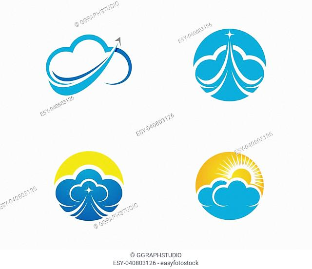 Cloud logo template vector icon illustration design