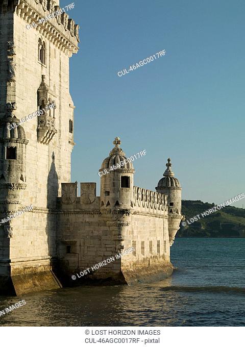 Castle built on coastline
