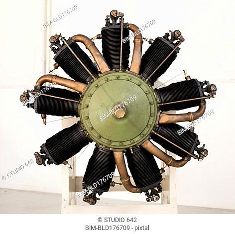 Close up of propeller engine