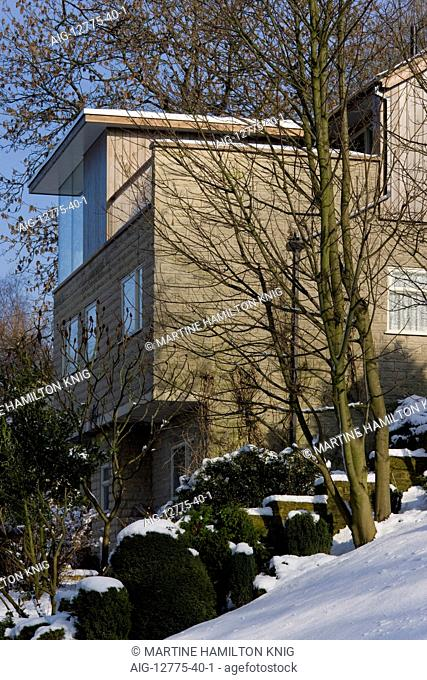 Private House in winter, Matlock, Derbyshire, England, UK