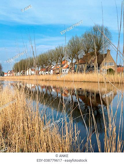 View on Damme, one of the most beautiful medieval little villages in Flanders, Belgium