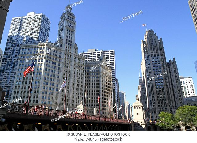 The Wrigley Building and the Tribune Tower, Chicago, Illinois