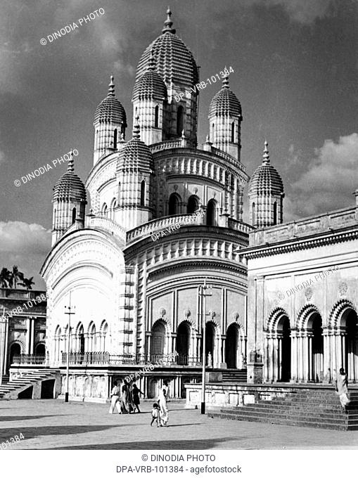 Dakshineshwar Hindu temple at Calcutta; West Bengal; India 1940's