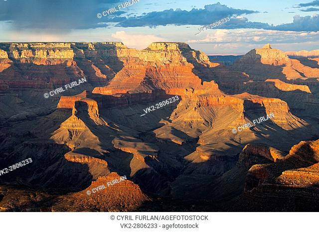 Yaki Point Evening Light, South Rim Grand Canyon,