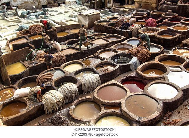 Chouwara tannery. Fes, Morocco