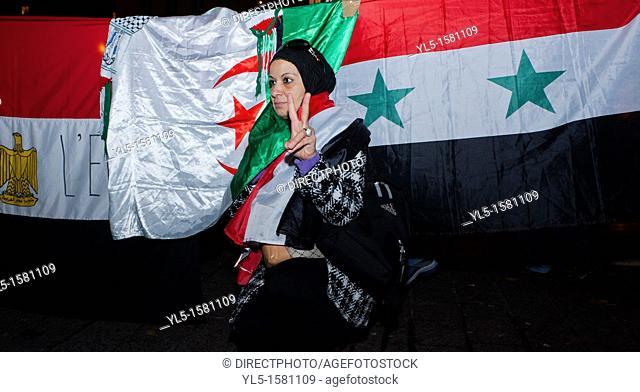Paris, France, Arab Protest, Egyptians Demonstrating Against Military Regime in Egypt , 23 November 2011