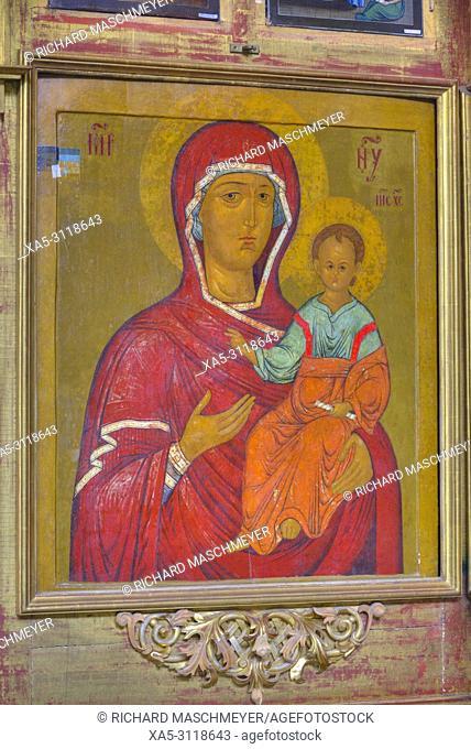 Icon, Church of Prince Demitry the Martyr, Uglich, Golden Ring, Yaroslavl Oblast, Russia