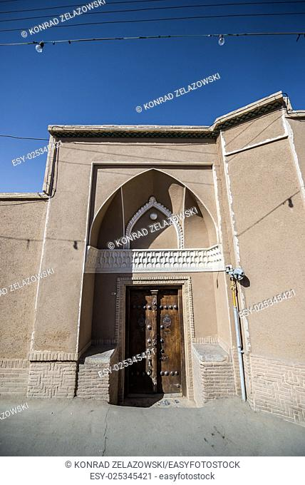 example of traditional house in Kashan, Iran