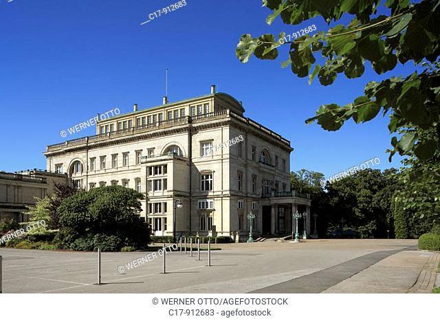 Germany, Essen, Ruhr area, North Rhine-Westphalia, Essen-Bredeney, Friedrich Alfred Krupp, Villa Huegel, residence of the Krupp family, family seat