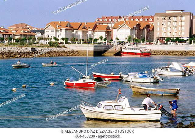 Port of Somo, Cantabria. Spain