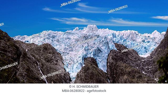 Briksdalsbre Glacier close Olden, Norway, Scandinavia, Europe, Panorama