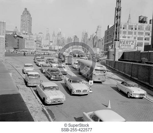USA, New York City, traffic