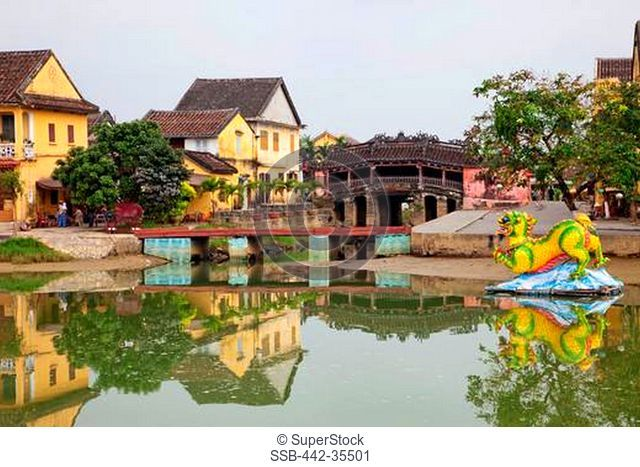 Bridge across a canal, Japanese Bridge, Huai River, Hoi An, Quang Nam, Vietnam