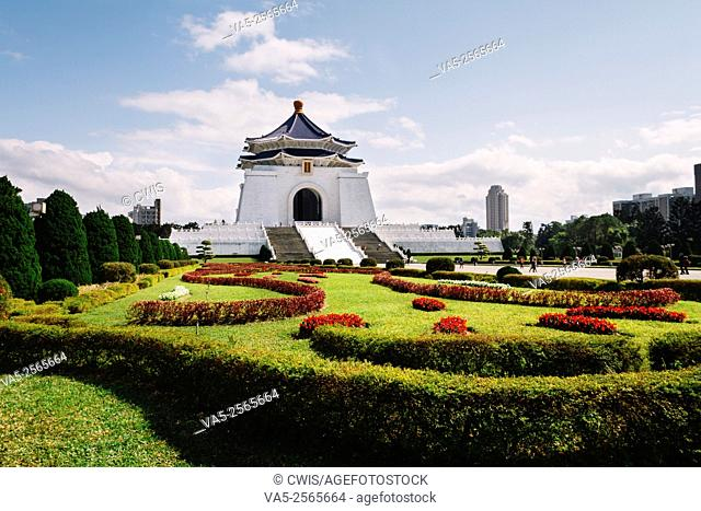 Taipei, Taiwan - the view of Chiang Kai-shek Memorial Hall at Liberation Square in the daytime