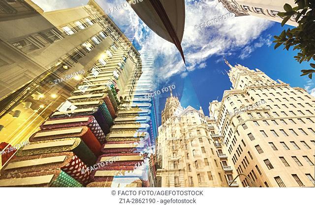 Architecture low angle view. Madrid. Spain