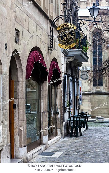 Christie's auction house in the Old Town of Geneva, Switzerland