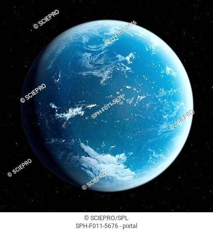 Planet earth, computer illustration