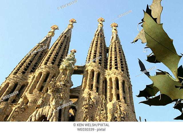 Eastern facade. La Sagrada Familia. Barcelona. Catalonia. Spain