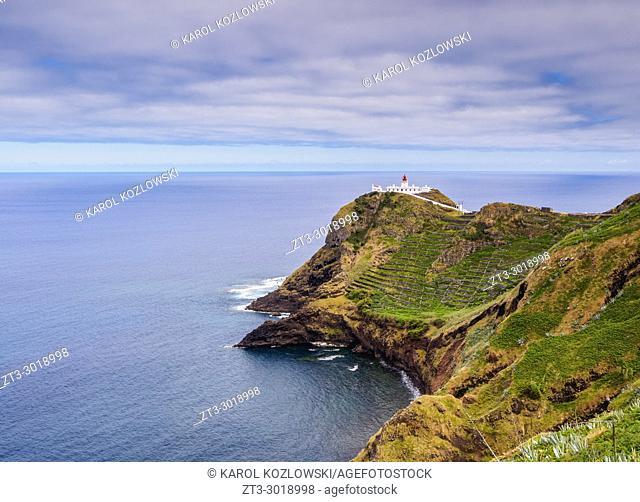 Lighthouse on Ponta do Castelo, Santa Maria Island, Azores, Portugal