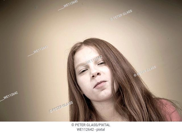 Preteen girl