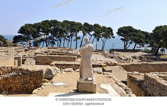 Greek part of the archeological site of Empuries Costa Brava, Catalonia, Spain, Europe