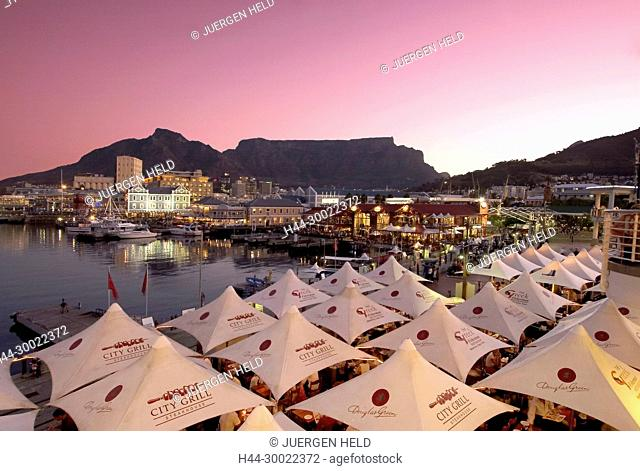 south africa cape town,Victoria Albert waterfront, sunset, table mountain