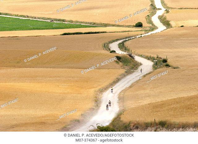 Road to Santiago. Hornillos. Burgos Province. Spain