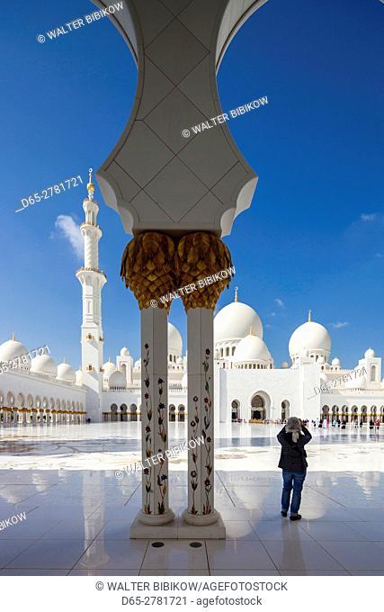 UAE, Abu Dhabi, Sheikh Zayed bin Sultan Mosque, arches