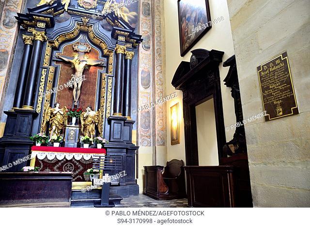 Interior of the church of Saint Peter and saint Paul of Krakow, Poland