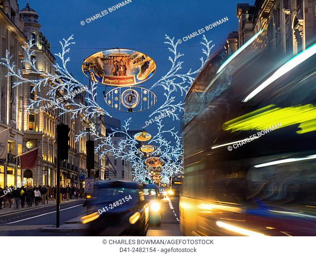 UK, england, london, Christmas lights Regent St