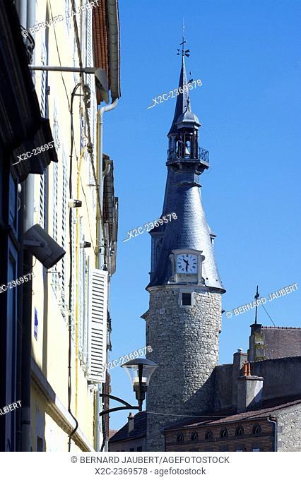Belfry of Saint Pourcain, Bourbonnais, Allier, France, Europe
