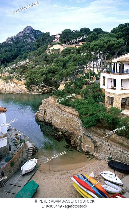 Fonells de Mar in Costa Brava. Girona province. Spain