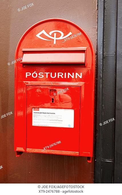 posturinn icelandic postal service post office mailbox Reykjavik iceland