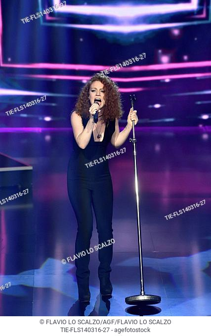 The singer Jess Glynne at the Raitre TV show Che Tempo Che Fa. Milan. Italy. 13/03/2016