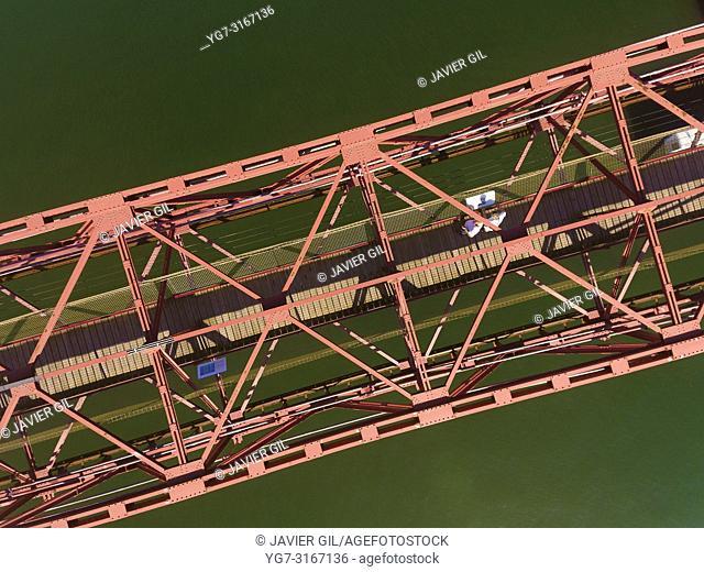 Suspension bridge, Portugalete, Bizkaia, Basque Country, Spain