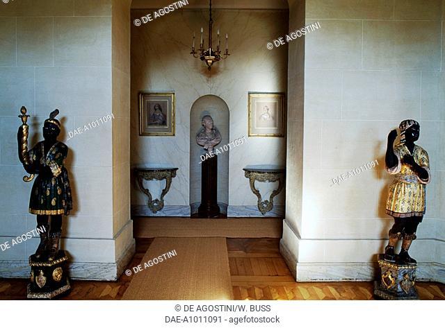 An interior of the Chateau de Vaux-le-Vicomte, near Nogent-sur-Seine, Champagne-Ardenne, France