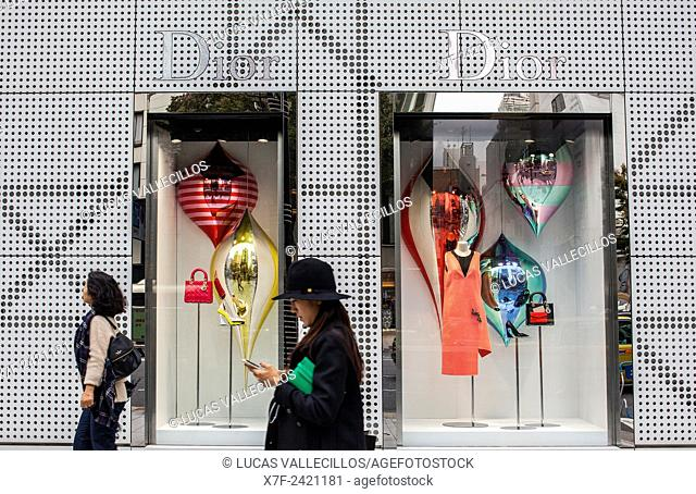 Dior store, in Harumi St, Ginza,Tokyo Japan