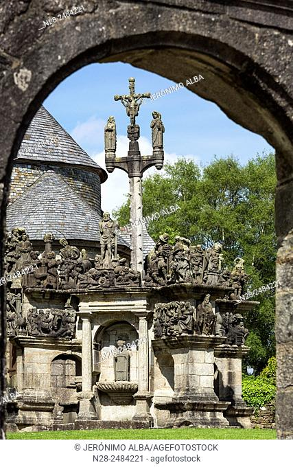The Calvary at Guimiliau Parish close, Way of St James, Finistere, French Brittany, France, Europe