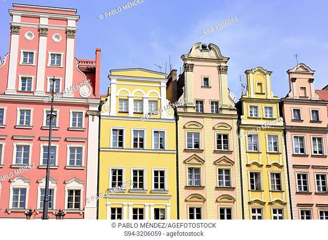 Main square or Rynek of Wroclaw, Silesia, Poland