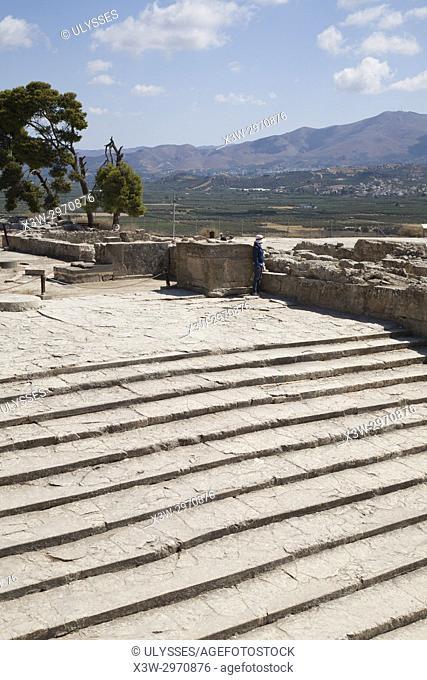 West Propylaea, Festos, archeological area, Crete island, Greece, Europe