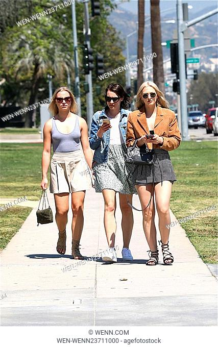 Maude Hirst enjoys Beverly Hills with friends as she enjoys the Los Angeles Sunshine Featuring: Maude Hirst Where: Los Angeles, California