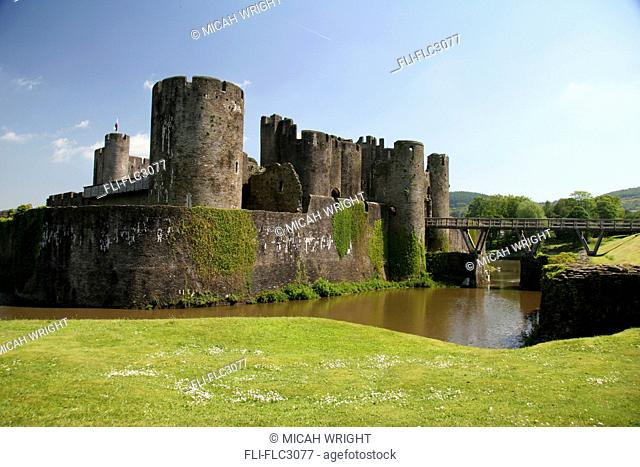 Caerphilly Castle, Caerphilly, South Wales