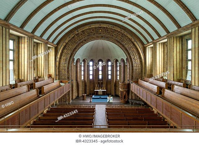 Martin Luther Memorial Church, 1933 to 1935, Interior, decorated with symbols of the Nazi state, Berlin