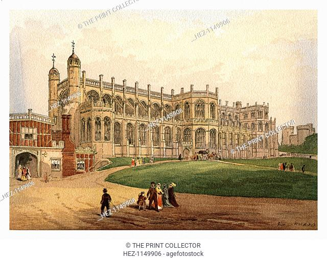 'St George's Chapel', 1880. A watercolour sketch from Windsor Castle and the Water-Way Thither by W H Davenport Adams, published by Marcus Ward and Co, (London